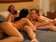 Threesome ass fucking with hot Belladonna