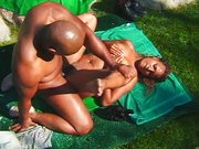 Hip hop couple fucking outdoors